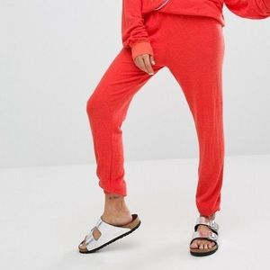 Wildfox NWT ultra soft Jogger sweatpants/orange